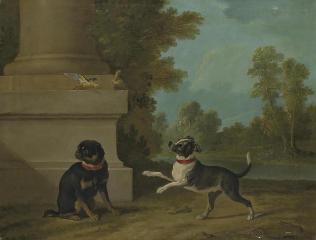 Jean-Baptiste Oudry, 'Dogs playing with birds in a park', 1754, Christie's Old Masters