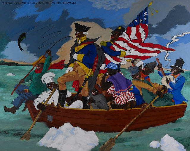 , 'George Washington Carver Crossing the Delaware: Page from an American History Textbook,' 1975, Seattle Art Museum