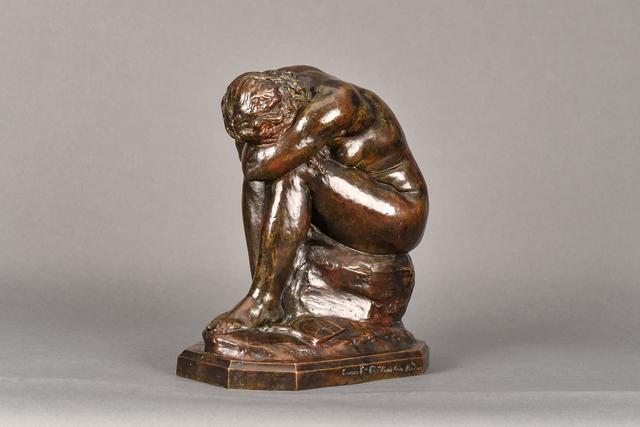 "Jules Dalou, 'La Verite Meconnue(""Truth Revealed"")', 1900, Sculpture, Bronze, Brown Patina, Graham Shay 1857"