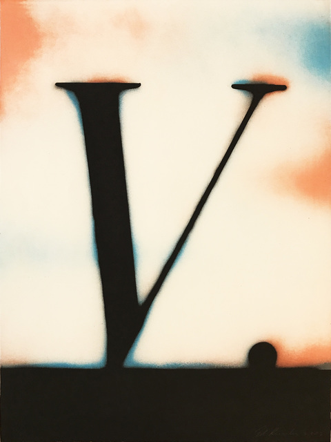 Ed Ruscha, 'V.', 1989, Hamilton-Selway Gallery Auction