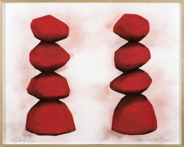 , 'Two Red Columns,' 2013, Galerie Lelong
