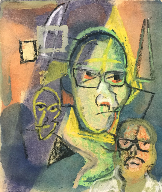 , 'Untitled (Self Portrait Easel Other Faces),' , The Good Luck Gallery