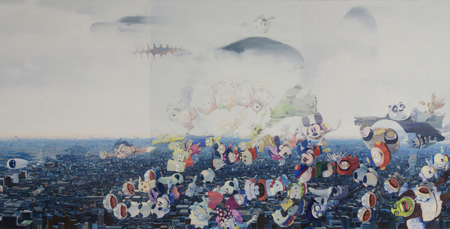 Zhang Gong, 'B-29 Bomber', 2011, Painting, Acrylic on Canvas, Eli Klein Gallery