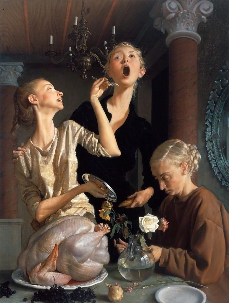 John Currin, 'Thanksgiving,' 2003, Gagosian