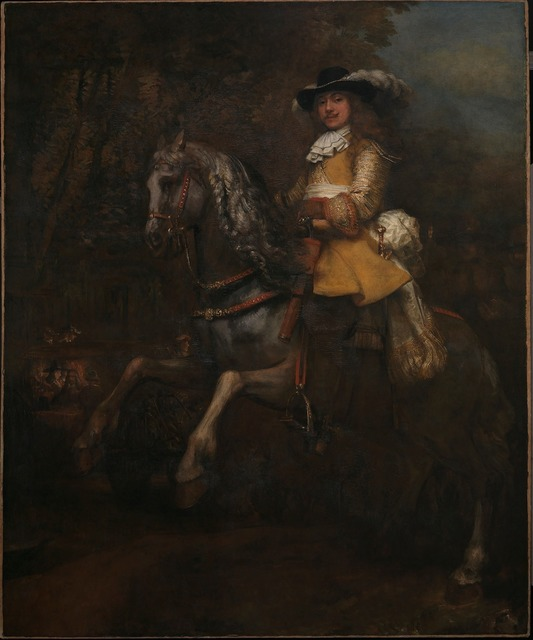 , 'Portrait of Frederick Rihel on Horseback,' probably 1663, The National Gallery, London