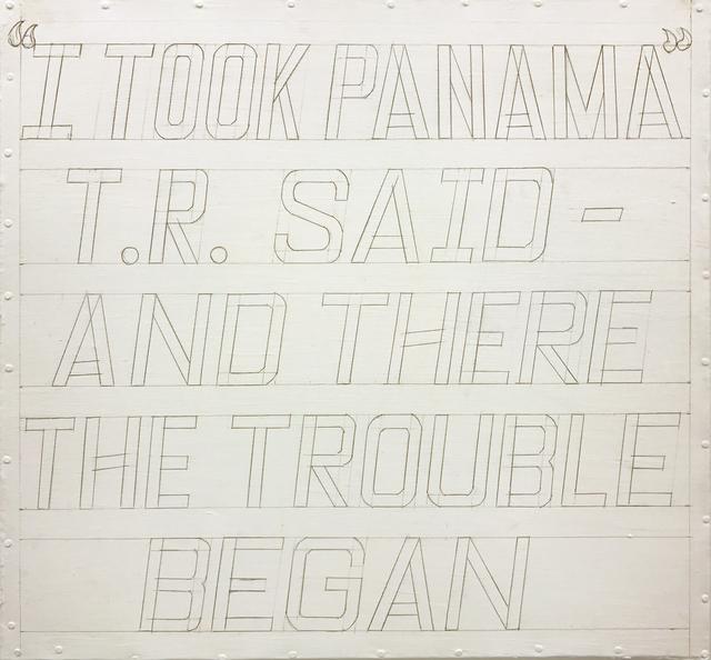 , 'I took Panama,' 2016, Diablo Rosso