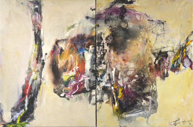 Chuang Che 莊喆, 'Untitled (Diptych)', 2016, Painting, Oil and acrylic on canvas, Vazieux | Art Gallery Paris