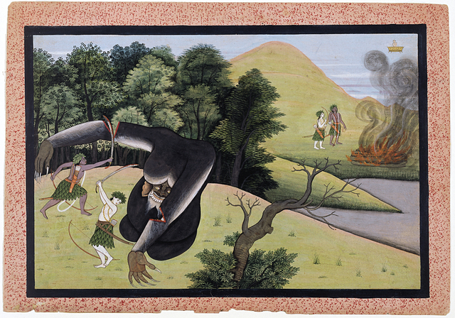 , 'Finally the demon Kabandha receives redemption,' ca. 1775, Museum Rietberg