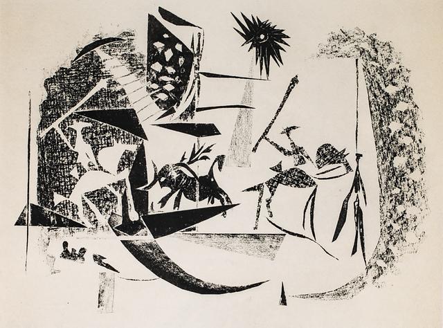 Pablo Picasso, 'Corrida Au Soleil Noir (Black Sun Bullfight), 1949 Limited edition Lithogrph by Pablo Picasso', 1949, White Cross