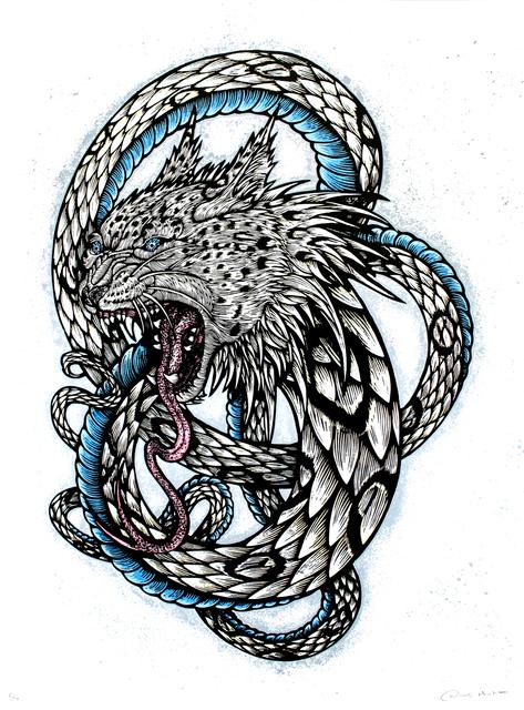 , 'Wolfbat Leopard Snake (Silkscreen Print),' 2013, Paradigm Gallery + Studio