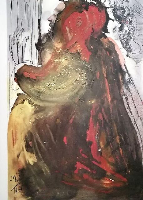 "Salvador Dalí, 'Planctus David in mortem Saul - From ""Biblia Sacra""', 1964, Wallector"