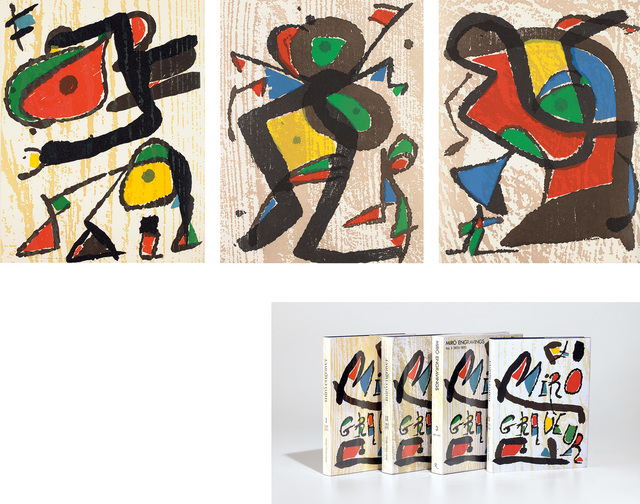 Joan Miró, 'Miró Engraver Catalogue Raisonné, Vols. I-IV: containing 8 original woodcuts', 1984-2001, Phillips