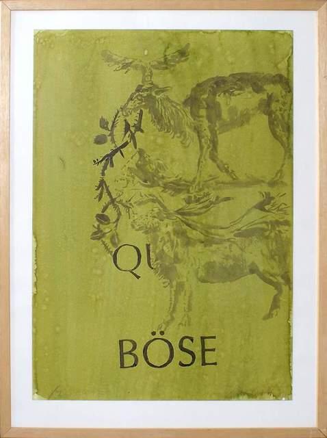 Hans Peter Adamski, 'Q Böse', 1989, Galerie Brigitte Schenk
