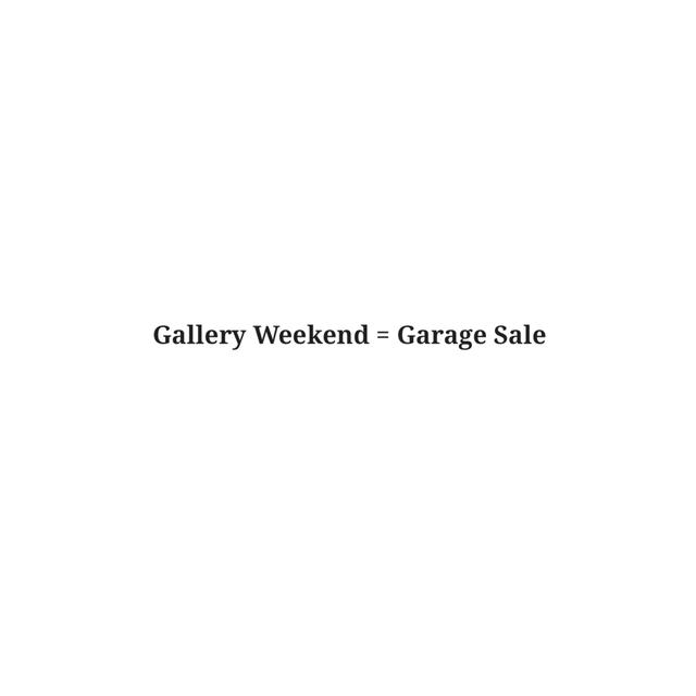 , 'Gallery Weekend,' 2018, Sabrina Amrani