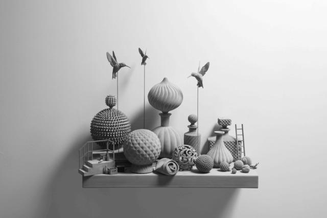 Hans Op de Beeck, 'Still Life (wall piece) (4)', 2019, Galerie Ron Mandos