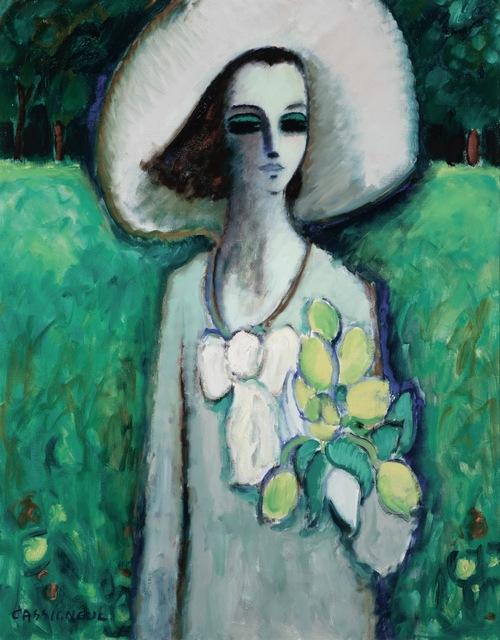 , 'Jeune fille au bouquet de tulipes,' 1967, Daphne Alazraki Fine Art