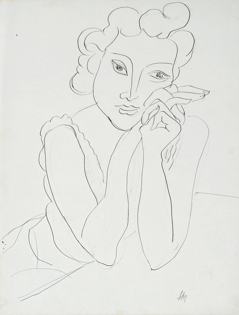, 'Femme aux mains croisées,' 1940, Bernard Jacobson Gallery