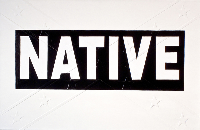 , 'Black Native Bumper Sticker,' 2009, Massey Klein Gallery