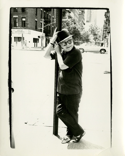 , 'Truman Capote on Street Lamp,' 1977, Gagosian