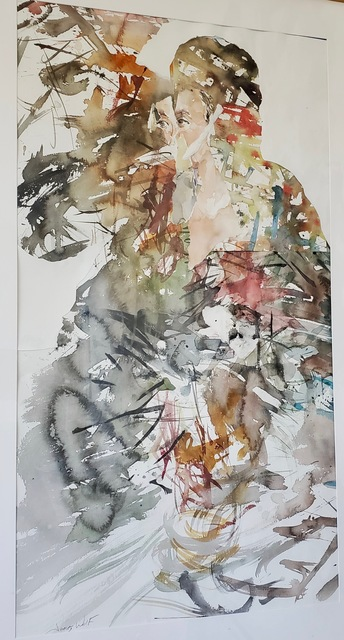 James Wolf, 'Discontent with Destiny', 2018, Painting, Watercolor Collage, Miller White Fine Arts
