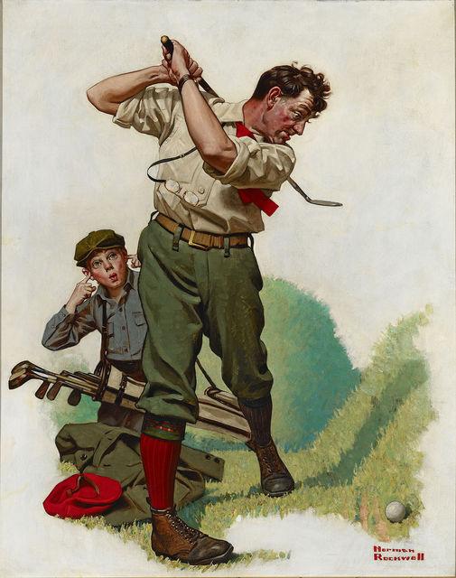 , 'The Golfer,' ca. 1920, M.S. Rau Antiques
