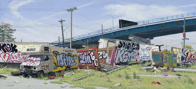 , 'Bronx Scrap Yard (study),' 2015, Lyons Wier Gallery