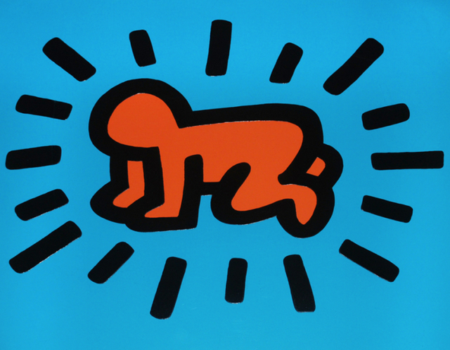 Keith Haring, 'Icons: (A) Radiant Baby', 1990, Taglialatella Galleries