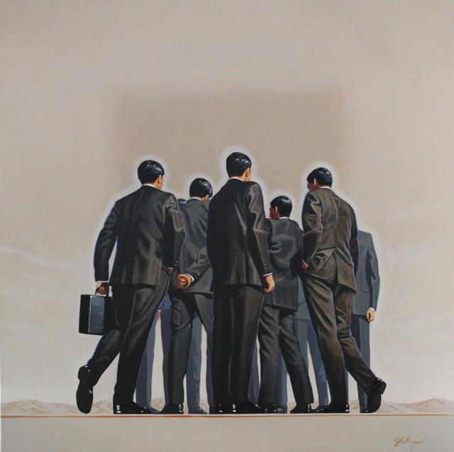 , 'Safety Meeting,' , Greg Thompson Fine Art
