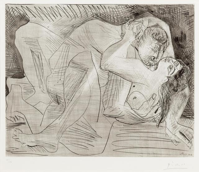 Pablo Picasso, 'Entreinte', 1963, Print, Etching and drypoint, Hindman