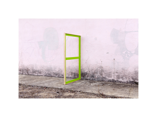 , 'Green Stretcher on a Pink Wall  #2/2,' 2014-2016, Maus Contemporary