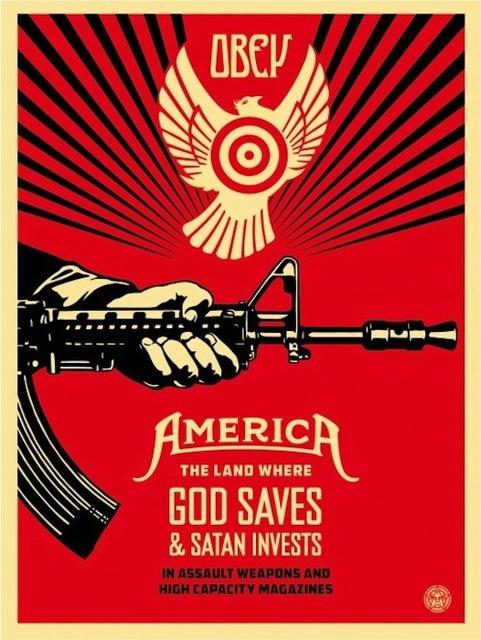 Shepard Fairey, 'God Saves & Satan Invests', 2013, Gregg Shienbaum Fine Art