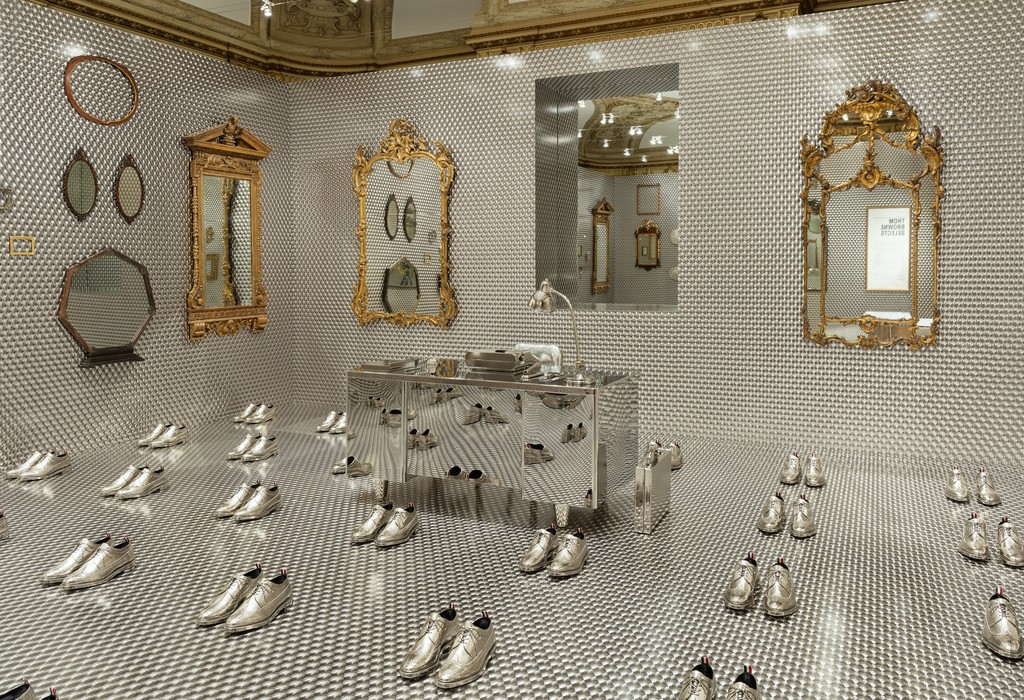 "Installation view of ""Thom Browne Selects."" Photo by Matt Flynn © 2016 Cooper Hewitt, Smithsonian Design Museum. COPYRIGHT: This image may not be reproduced without authorization from Cooper Hewitt, Smithsonian Design Museum"