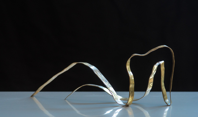 ", 'Sculpture in brass by Jacques Jarrige ""Angel #7"",' 2017, Valerie Goodman Gallery"