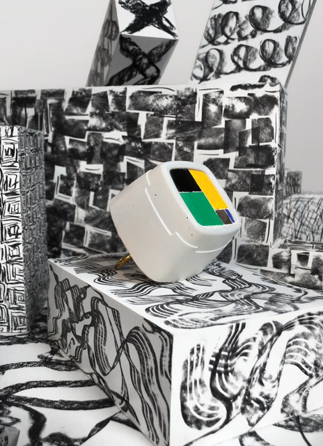 Gary Webb, 'Composition Black Yellow Green', 2019, Hix Art