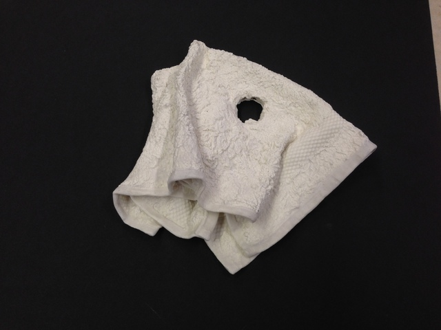 , 'A hole in the wash cloth,' 2014, Anne Mosseri-Marlio Galerie