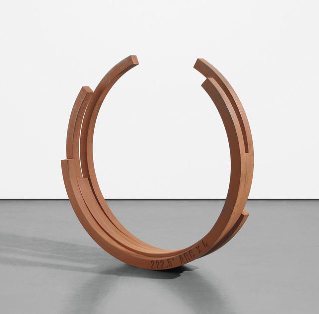 Bernar Venet, '222.5° Arc x 4', 2001, Phillips
