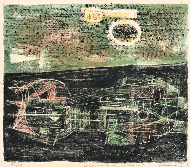 Corneille, 'Cat lying in the desert', 1953, Millon Belgium