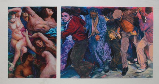 John Valadez, 'The Chase', 1999, Robert Berman Gallery