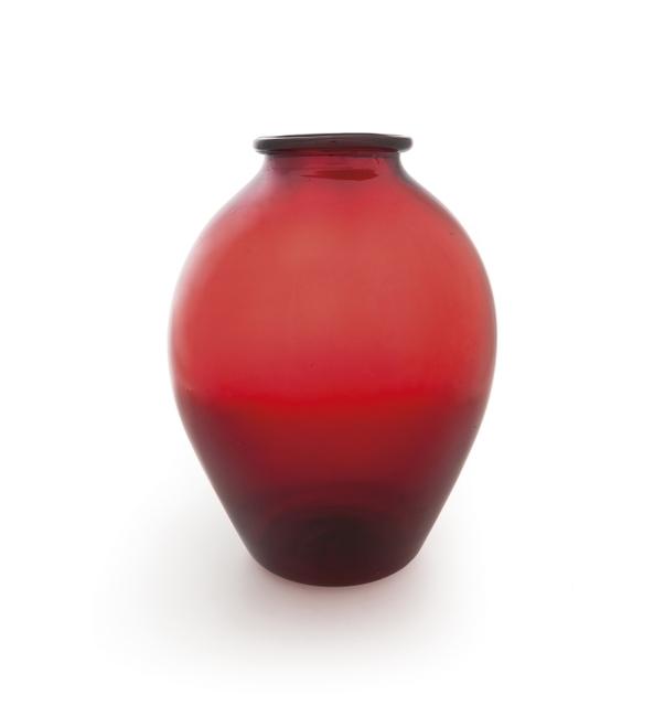 Napoleone Martinuzzi, 'A vase model '3080' in red blown glass', circa 1926, Aste Boetto