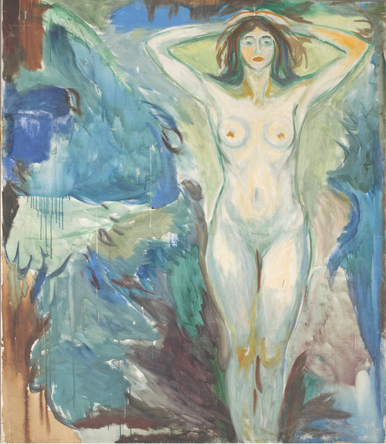 , 'Standing Nude Against Blue Background,' 1925-1930, Museo Thyssen-Bornemisza