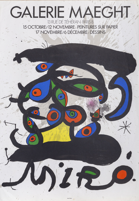 Joan Miró, 'Galerie Maeght', 1971, Ephemera or Merchandise, Lithograph, RoGallery