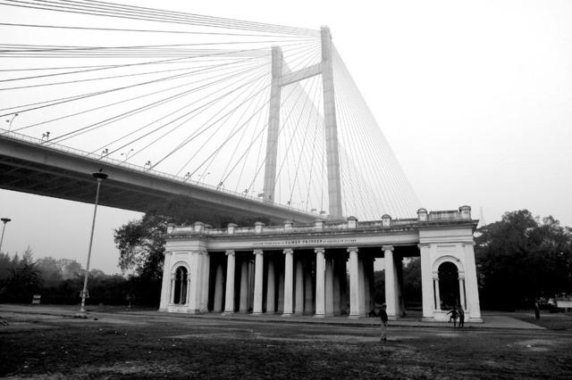 , ''Past & Present' #1, Prinsep Ghat, Calcutta,' 2009, Sundaram Tagore Gallery