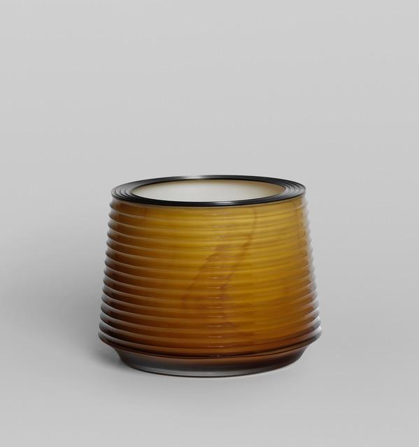 , 'Yellow Cut Vessel with Steel rim ,' 2017, von Bartha