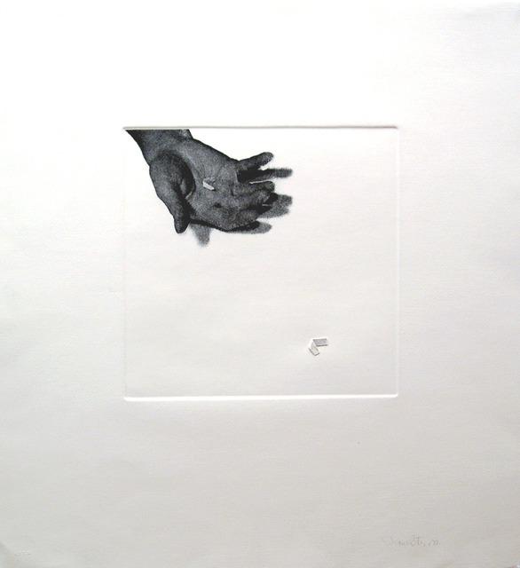 , 'Untitled (hand with paper),' 1973, Espacio Mínimo