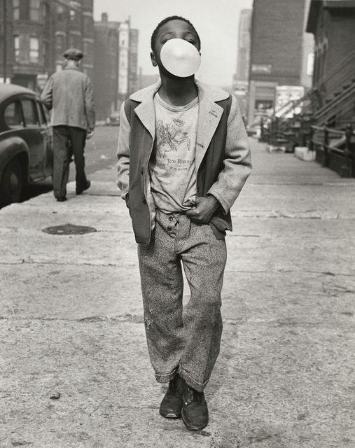 Marvin E. Newman, 'Boy Blowing Bubble Gum', 1951, Elizabeth Houston Gallery