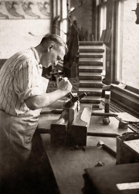 , 'Boston Public Library Bindery, John O'Brien,' ca. 1926, Panopticon Gallery