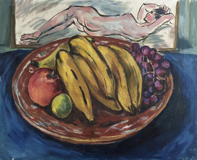 , 'Still Life With Fruit Plate,' Mid-20th century, Bakker Gallery