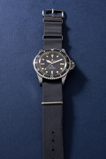 Rolex, 'A very attractive and highly rare stainless steel military wristwatch with revolving bezel, fixed bar lugs and military engravings, made for the British Military', Circa 1972, Phillips