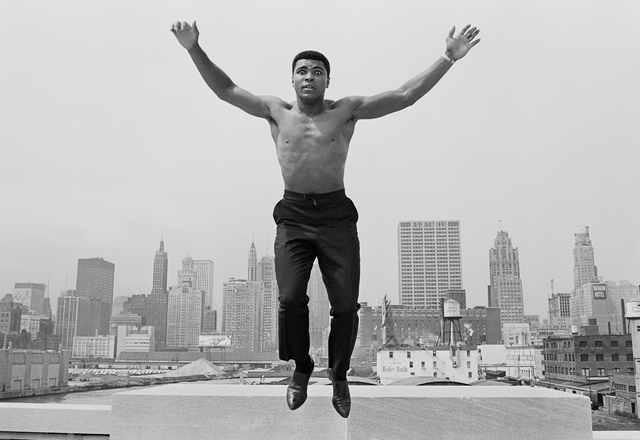 , 'Muhammed Ali jumping from a bridge over the Chicago River,' 1966, Atlas Gallery