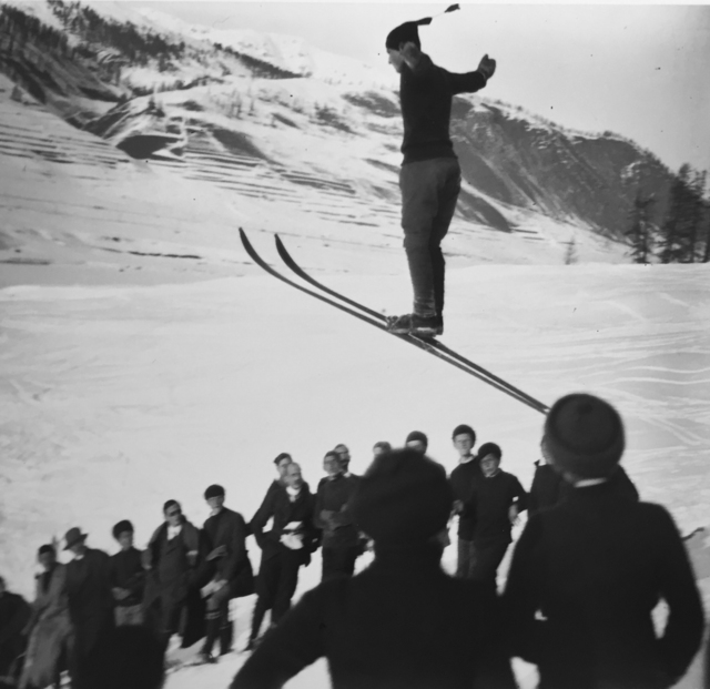 , 'Ski jumping competition, St. Moritz, February,' 1913, G. Gibson Gallery